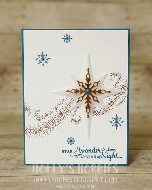 Holly's Hobbies: Star of Light - TGIFC68 - Create a 3D star out of vellum to really make your card shine!  The new Star of Light bundle from @stampinup is one NOT to pass up!