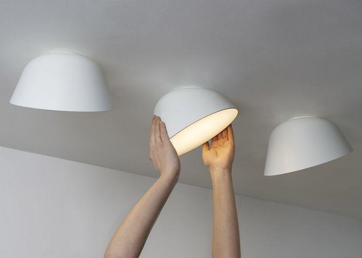 Rotating LED lamp by British designer Samuel Wilkinson.