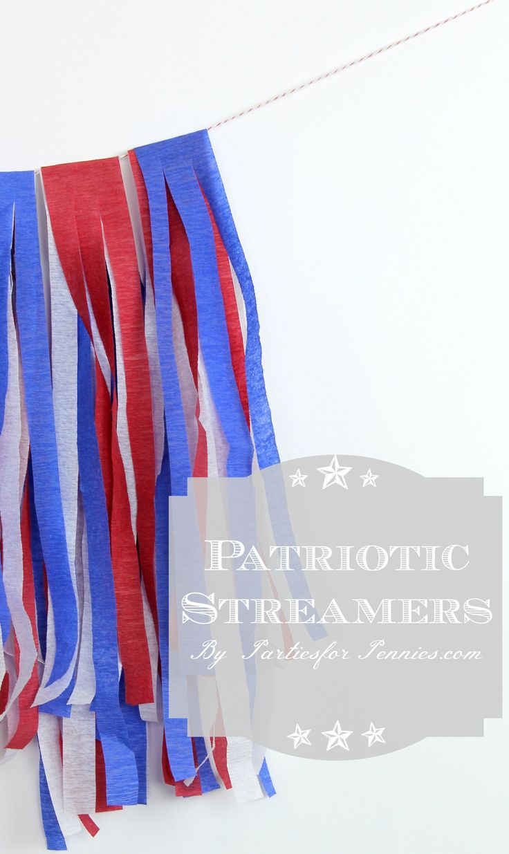 Patriotic Streamer Tutorial by PartiesforPennies.com