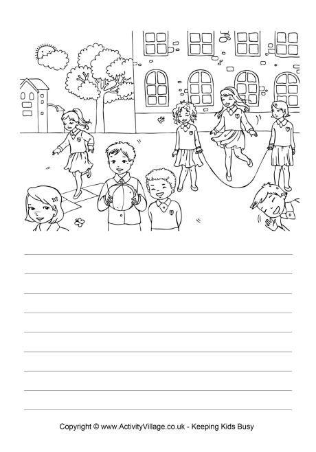 Playground story paper | Creative writing worksheets ...
