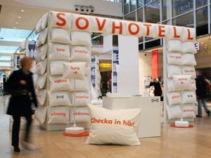 Stockholm, Sweden : Ikea Sovhotell is conveniently located in the middle of this Stockholm shopping center.