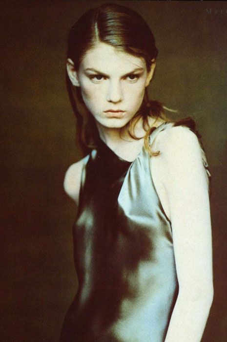 Angela Lindvall photographed by Paolo Roversi for Vogue Italia (September 1997).