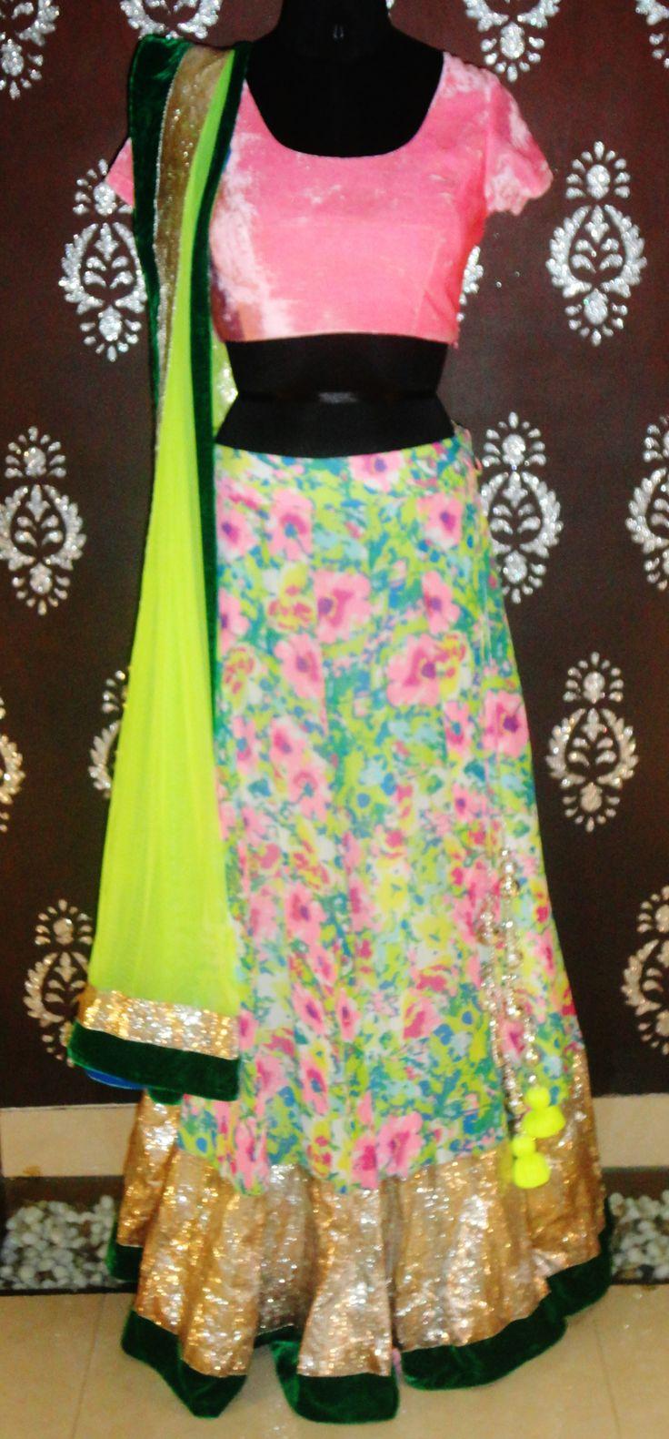 Indian# Bollywood Fashion# Ghagra Choli # Vitamin by Sonalika # Sonalika Pradhan