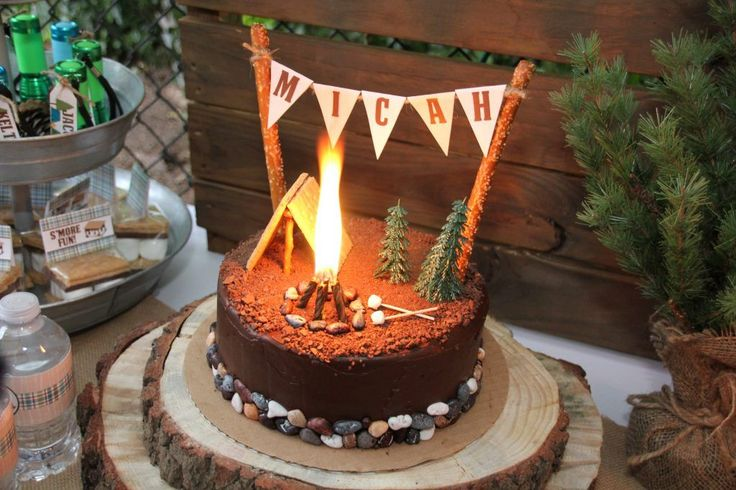 Camping tent cake -Twins Camping Birthday Party – 5M Creations Blog