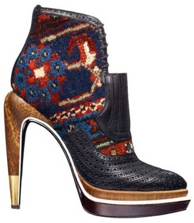 fabricated with wooden heel. Perfect pair for winter.