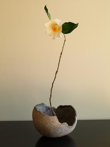 "Chabana (literally ""tea flower"") is the simple style of flower arrangement used in tea ceremony. Chabana has its roots in ikebana, an older style of Japanese flower arranging, which itself has roots in Shinto and Buddhism. wiki"