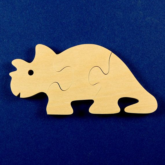 Dinosaur Party Favors Childrens Wooden Puzzles por nwwoodcrafters