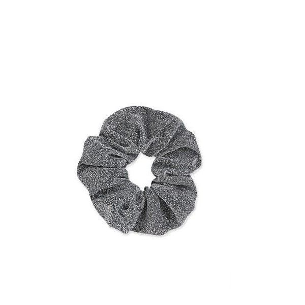 Topshop Glittery Scrunchies ($4.99) ❤ liked on Polyvore featuring accessories, hair accessories, silver, glitter hair accessories and scrunchie hair accessories