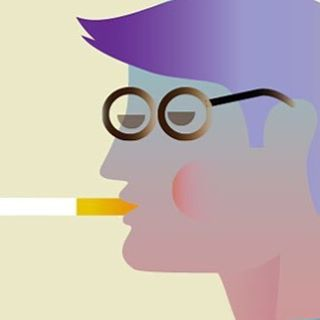A cool dude in 50's frames. A Detail from a larger illustration. 2015. #fashionillustration, #style, #frames, #scandinavianillustration, #vectorgraphics, #fashion, #graphic, #minimalistic, #retrostyle, #twitter