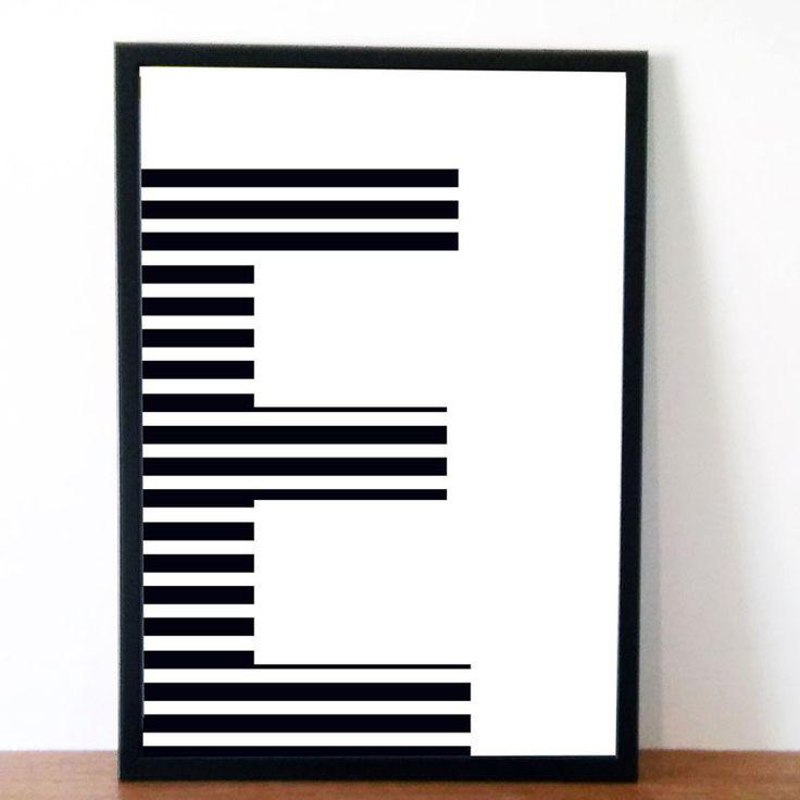 Presente Idea - Tipografia Art Prints para pessoas que gostam de fontes, letras e símbolos