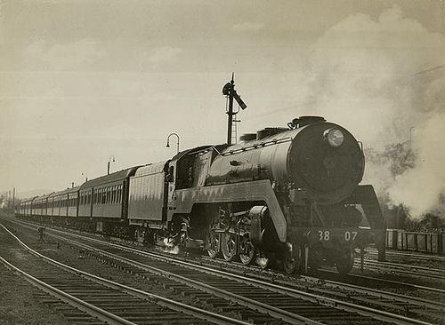 The 'Riverina Express',  at Goulburn 1946 by State Records NSW, via Flickr