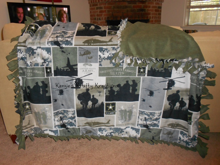 The 25 best tie knot blanket ideas on pinterest diy knot army tie knot blanket homemade can be personalized with a name on it ccuart Images
