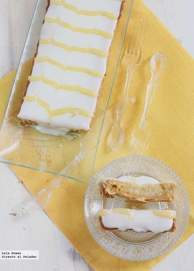 Receta de tarta Bakewell de lemon curd. receta de postres. con fotos de presentación y del paso a paso y consejos de elaboración, de...