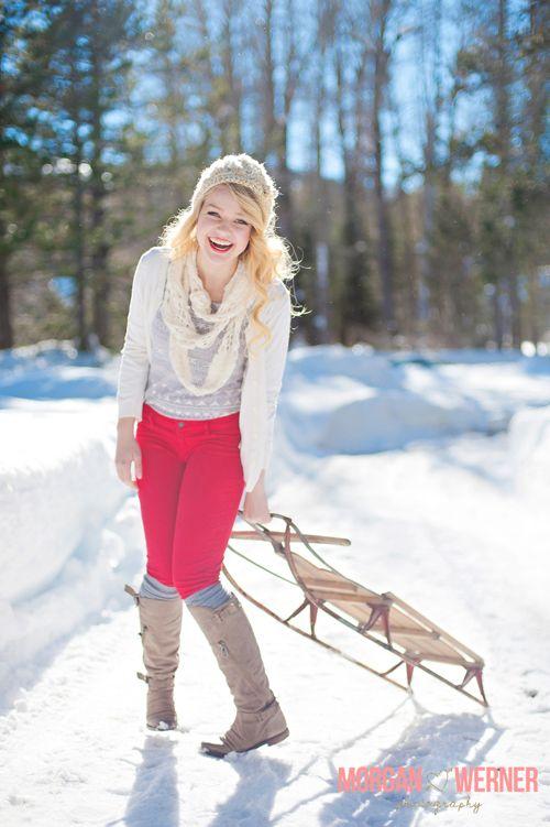Snow Photo Shoot   Featured Senior Session :: Morgan Werner Photography » Senior ...