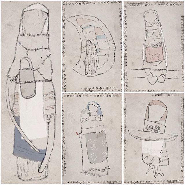 """открываю ПРЕДЗАКАЗ на ОТКРЫТКИ для того, чтобы иметь возможность их напечатать. 10 героев из серии #хранители_yanaprya отрисованы вручную печать на фактурной,льняной бумаге ограниченный тираж. нас с @una_mirchi вдохновляла старинная вышивка, набойка,полустертые временем, почти исчезнувшие росписи деревянных северных домов, старые фотографии. стоимость одного набора из 10(!) почтовых открыток 750р. для заказа напишите, пожалуйста, на почту makelan@mail.ru укажите тему письма """"открытки""""..."""