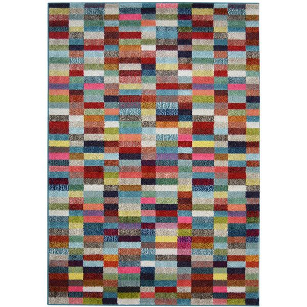 Villa Broken Blocks Rug 120 x 170cm (100 CAD) ❤ liked on Polyvore featuring home, rugs, polypropylene rugs, colored rugs, pile rug, polypropylene area rugs and contemporary rugs