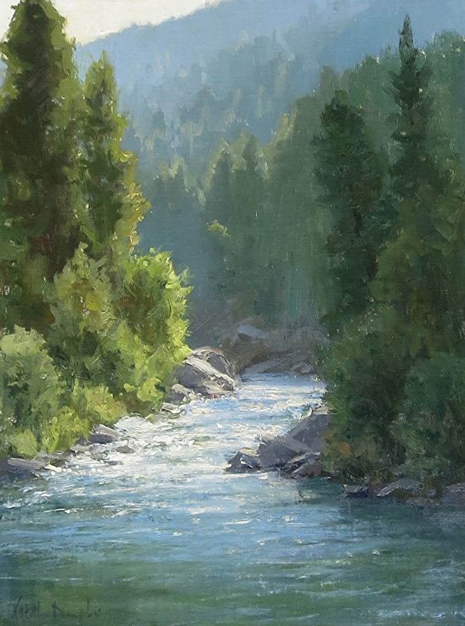 Upstream By Kathleen Dunphy Oil 16 X 12 Landscape Art Landscape Paintings River Painting