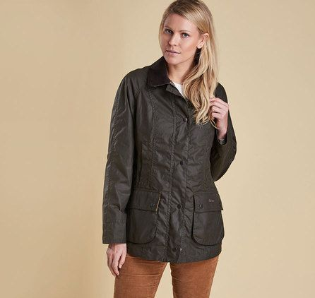 Barbour Lifestyle W Classic Beadnell Waxed Jacket -- size 14 (UK) -- Barbour Outlet in Kittery?