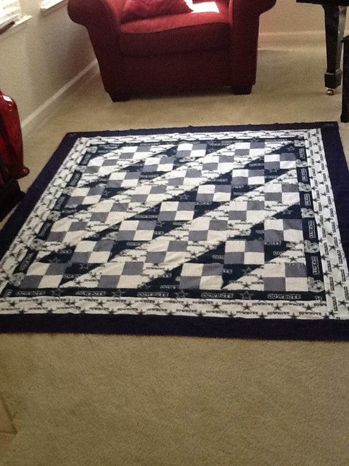 Dallas cowboy quilt...by Kimmers