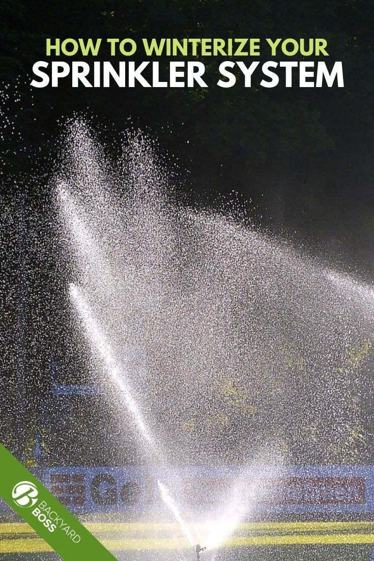 How To Winterize Your Sprinkler System 1000 Sprinkler Sprinkler System Winter Garden