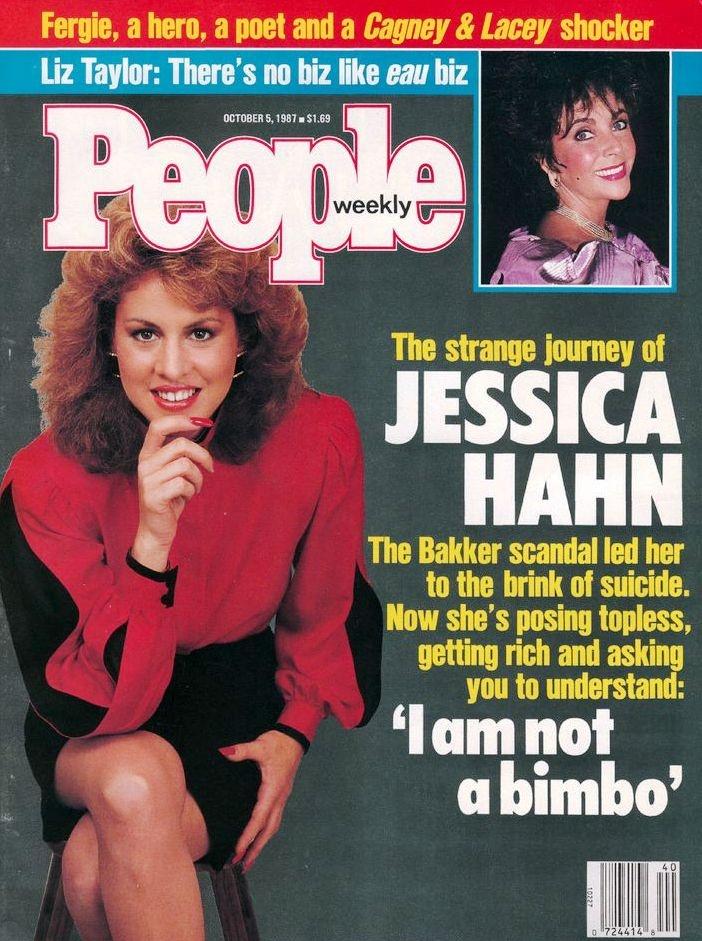 Jessica Hahn & Jim Bakker scandal.  1987