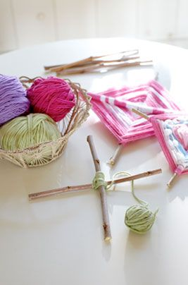 We have a lot of yarn. 3 Easy Summer Crafts | Pottery Barn Kids