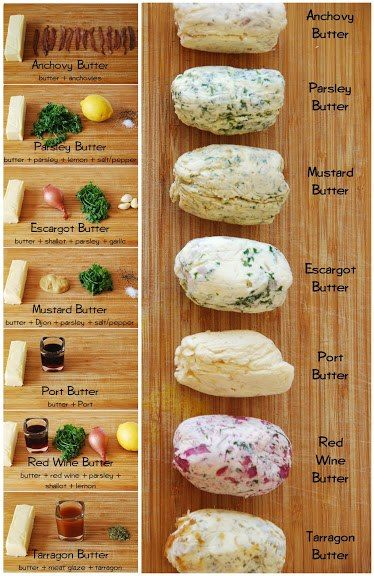 """Easy Homesteading: Herb Butter Recipes. """"Repinned by Keva - I've pinned this to my """"Make your own Butters"""" board too xo""""."""