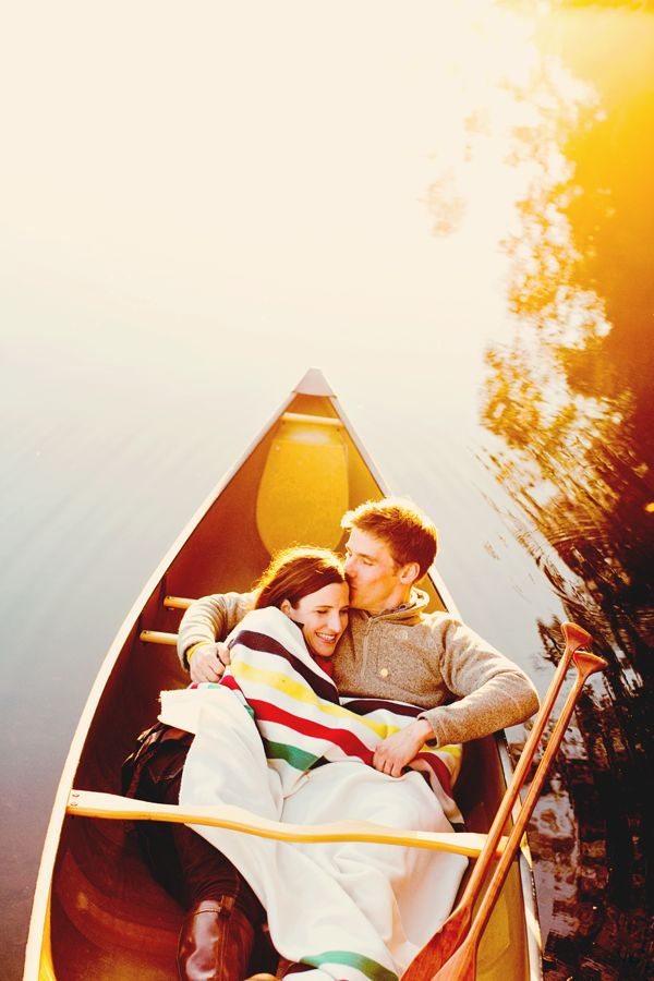 Canoe Engagement Session at Dusk. LOVE. -Photo by Shannon Lepere