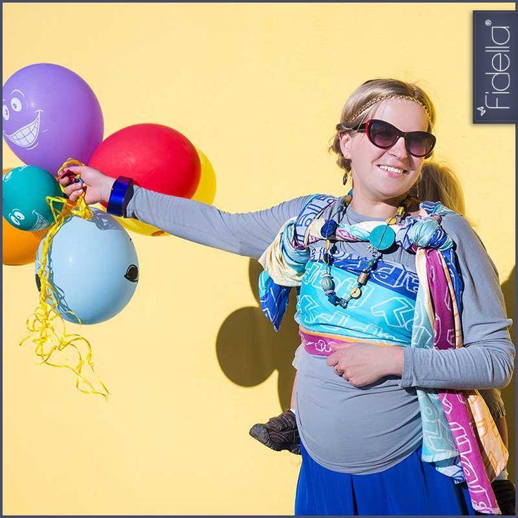 @FidellaWraps  #babywearing  Fidella babywrap Happy Colour BoOm, 29,90 EUR, Fidella®   My boy is ALWAYS so joyous we NEED this wrap.