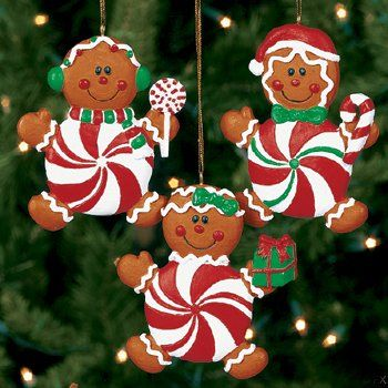 These are too cute for a candyland themed Christmas tree.