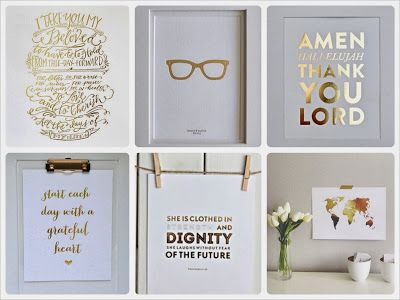 Gold Foil Print for Gallery Wall Round-up- The Vision of Style