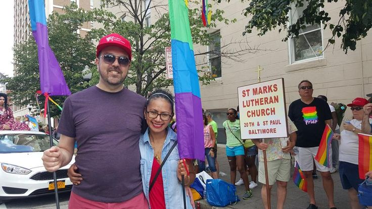 Our congregation proudly part of Baltimore's Pride Parade