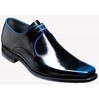 Barker Shoe Style: Bude - Black / Blue Hi-Shine / Blue Binding