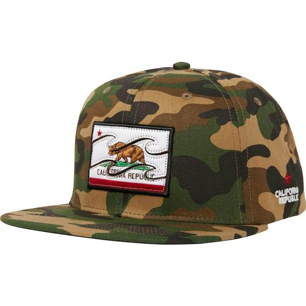 Native Camo Hat ($30) ❤ liked on Polyvore featuring men's fashion, men's accessories, men's hats, mens camo hats, men's brimmed hats, mens snapback hats and mens flat hats
