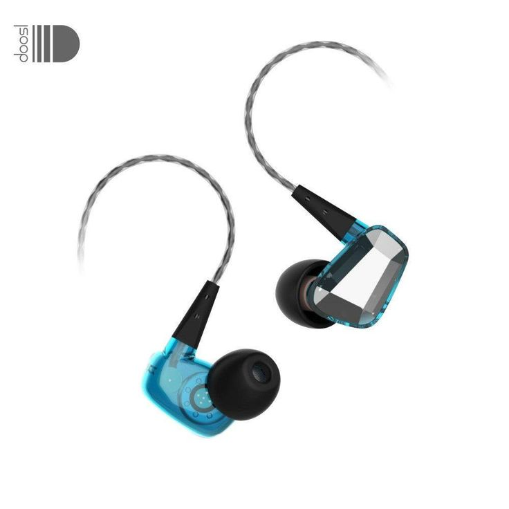 In-Ear Dynamic Earphones Crystal Style Noise Cancelling In-Ear Earbuds with 3.5 mm Plug