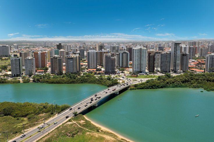 Aracaju vista aérea | Localização de referência ponte de acesso à Coroa do Meio e à Avenida Beira Mar (vice-verso)