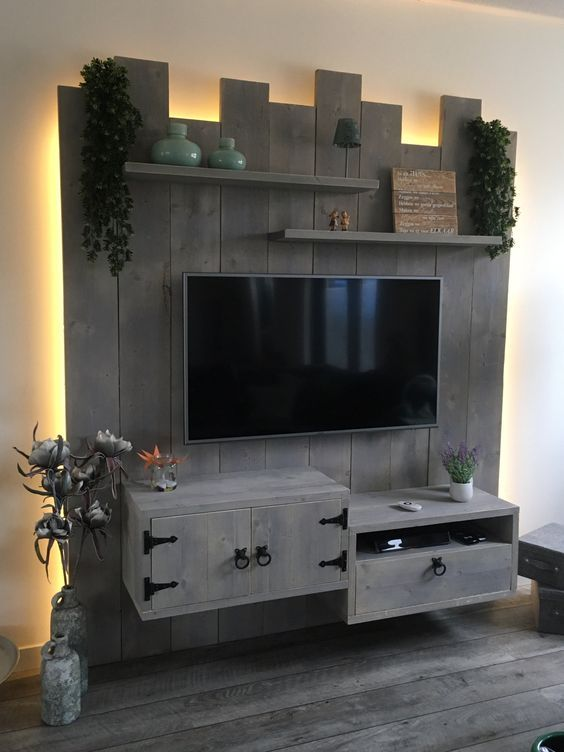 25 Coolest Diy Wood Pallet Tv Console Ideas For Your Project