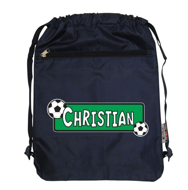 Swim/Sports Bag Soccer- Navy (one size only)