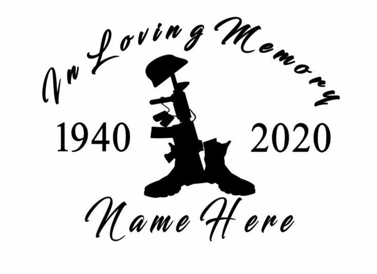 Custom In Loving Memory Soldier Vinyl Car Window Decal