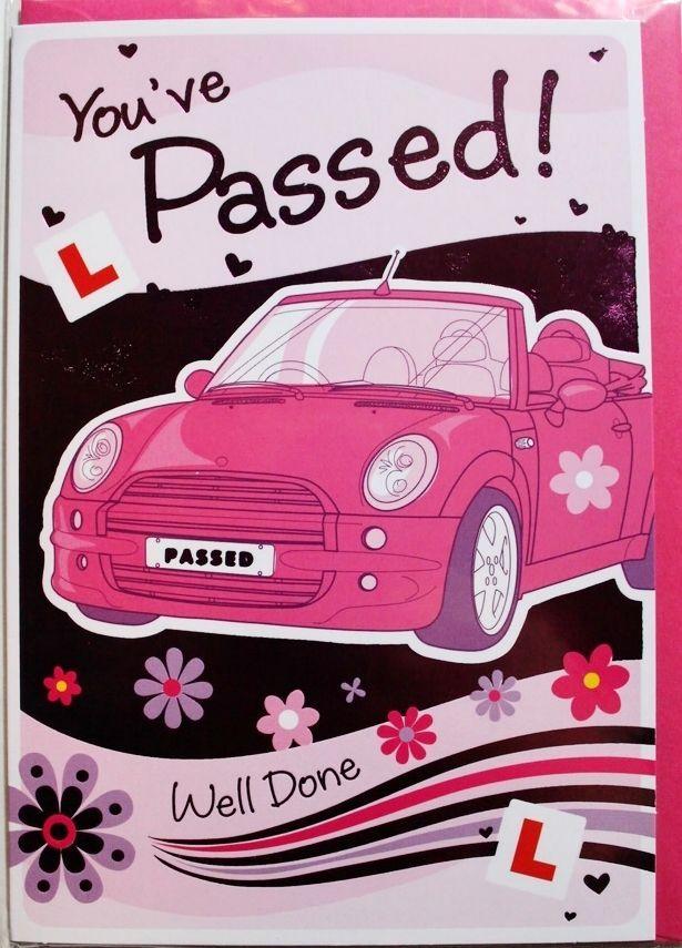 You've passed! driving test card & envelope, female, congratulations, brand new #RegentGreetingCardsLtd #Drivingtestpass