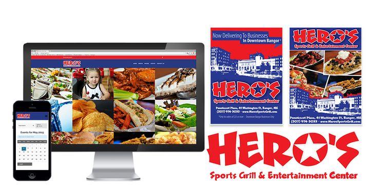 Pulse Marketing Agency|Hero's Sports Grill and Entertainment Center|Bangor|Mockup