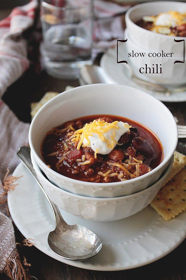 Slow Cooker Chili | www.diethood.com