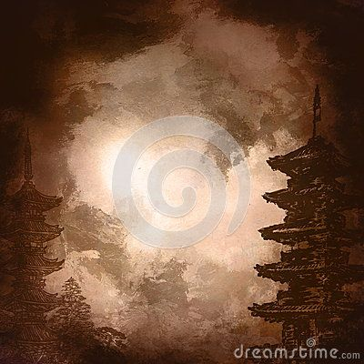 Japanese style,background.Japan old temple