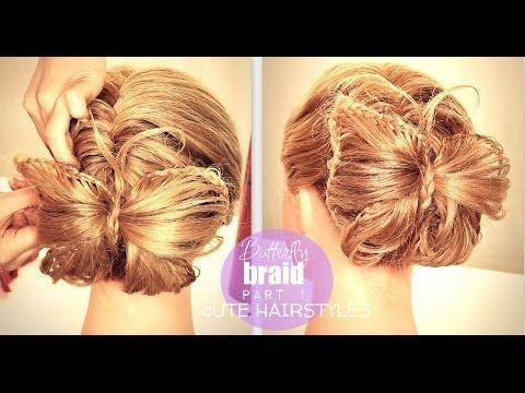Part 1 of the Butterfly Braid Bun Tutorial - How to French Fishtail Braid Ponytail  | Cute Hairstyles
