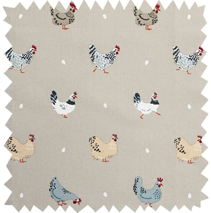 Lay A Little Egg Hen Fabric by the Metre