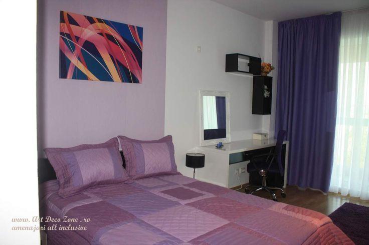 Design apartament mic in culori calde - Art Deco Zone & Knox Design - Amenajari interioare Bucuresti. www.artdecozone.ro, #amenajaridormitor, #decordormitor