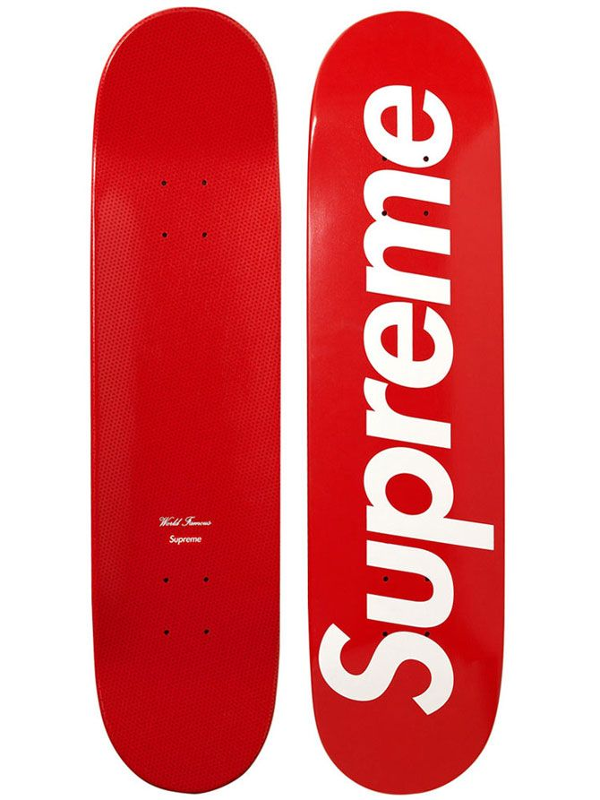 Supreme Logo Skateboards. I like the way these colors pop when placed together!
