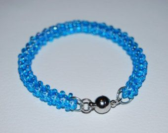 Beaded Bracelet made with TOHO beads - handmade using the Cubic Right Angle Weave (C-RAW) technique - Etsy