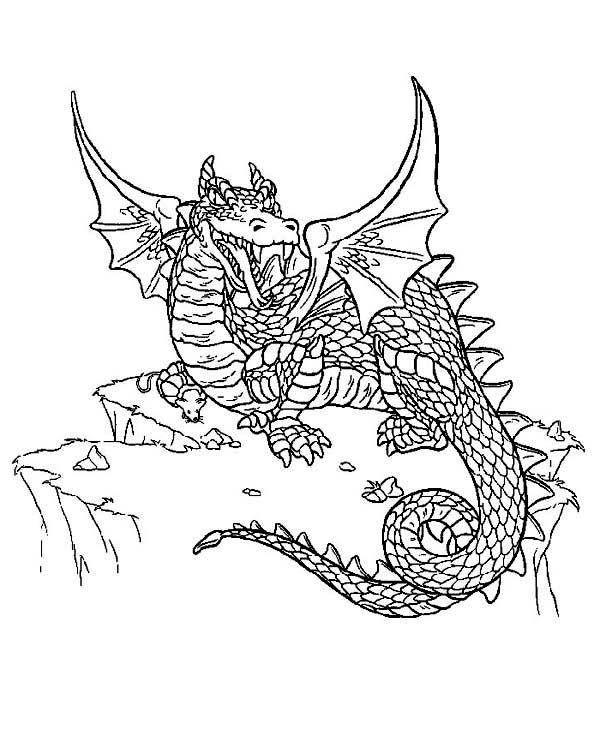 difficult dragon colouring pages