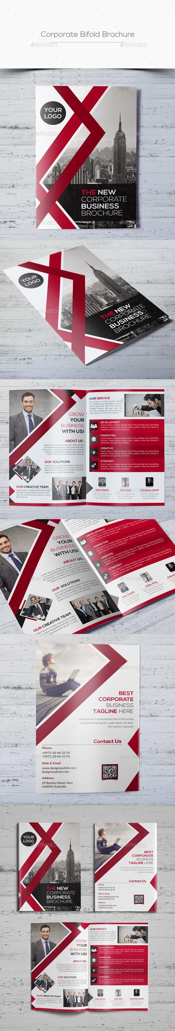 Corporate Bifold Brochure Template PSD #design Download: http://graphicriver.net/item/corporate-bifold-brochure/13480334?ref=ksioks